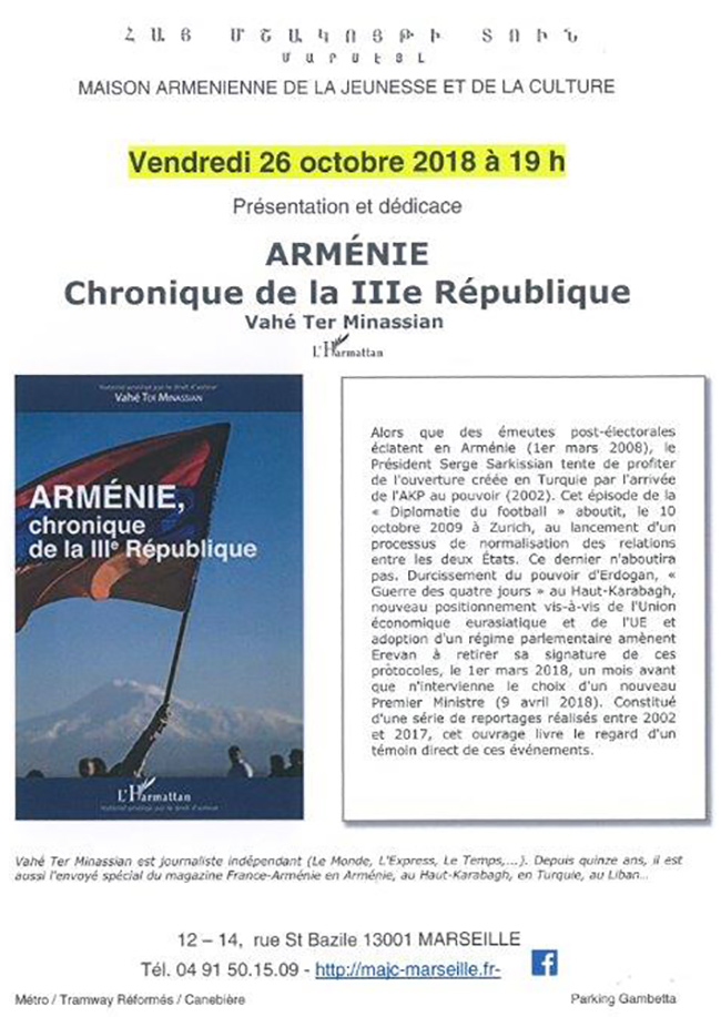 Flyer Armenie 3me republique